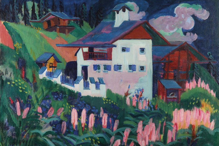 Our House (House in Davos-Wiesen), (c. 1920), Ernst Ludwig Kirchner. Galerie Henze & Ketterer