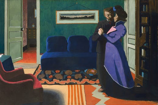 The Visit (1899), Félix Vallotton. Kunsthaus Zürich.