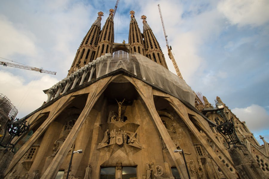 The Sagrada Família entering its final construction phase in 2015, photo: Getty Images