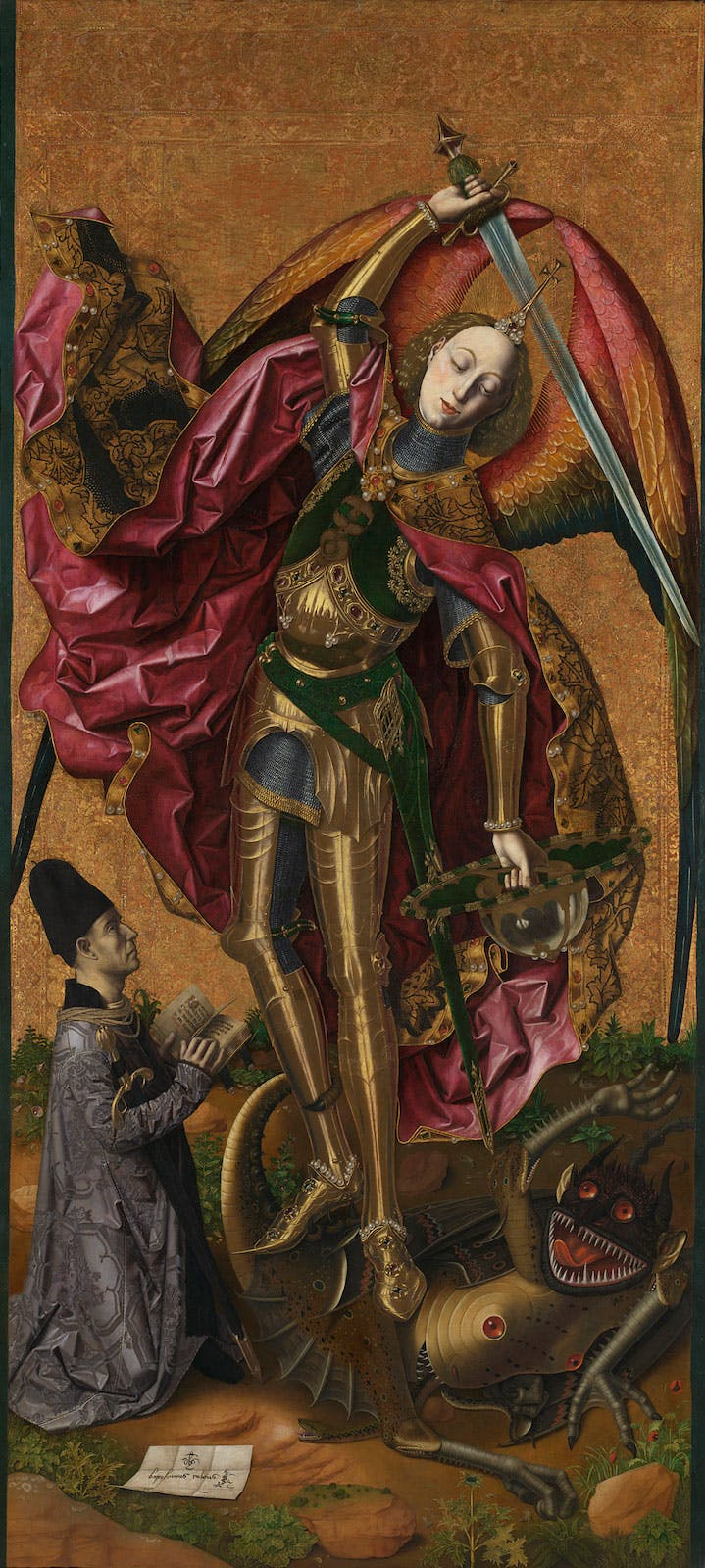 Saint Michael Triumphant over the Devil with the Donor Antoni Joan Bartolomé