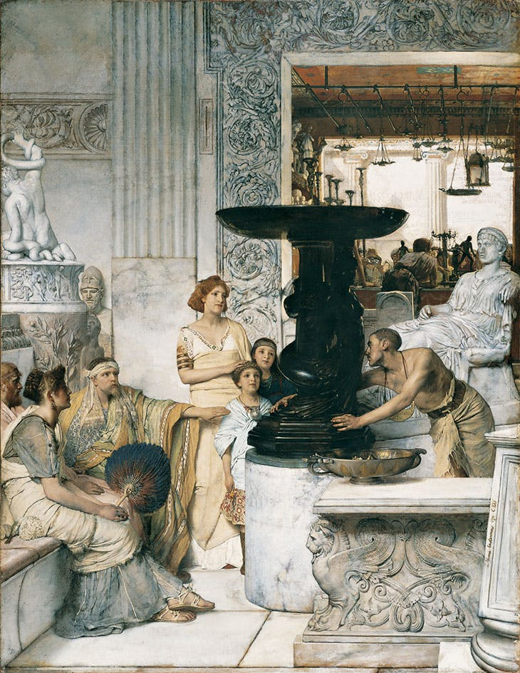 The Sculpture Gallery (1874), Lawrence Alma-Tadema. Hood Museum of Art, Dartmouth College, New Hampshire