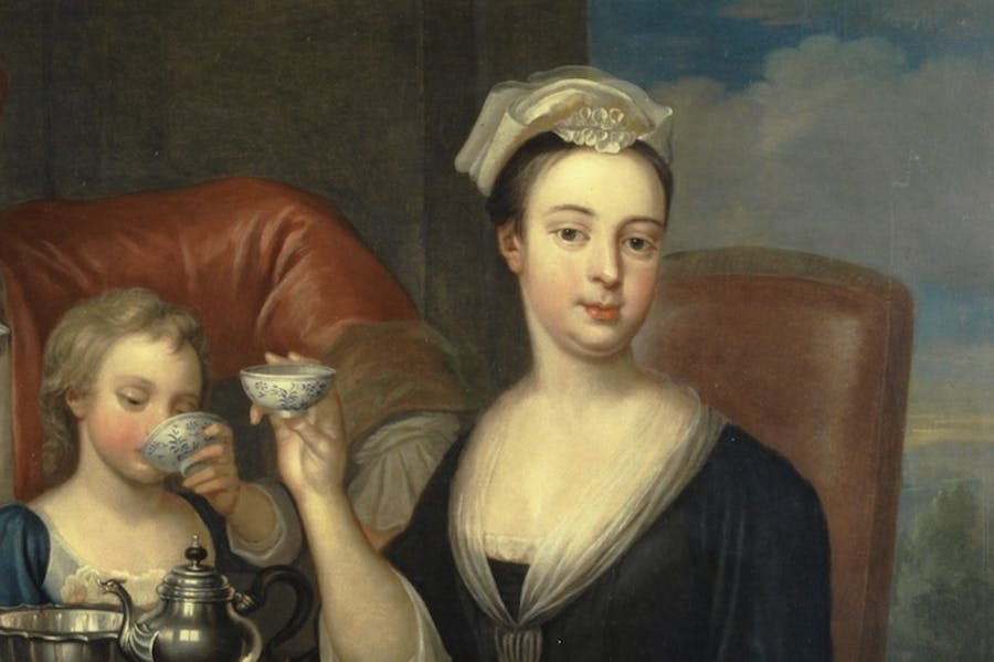 The Tea Party (detail; 1727), Richard Collins.