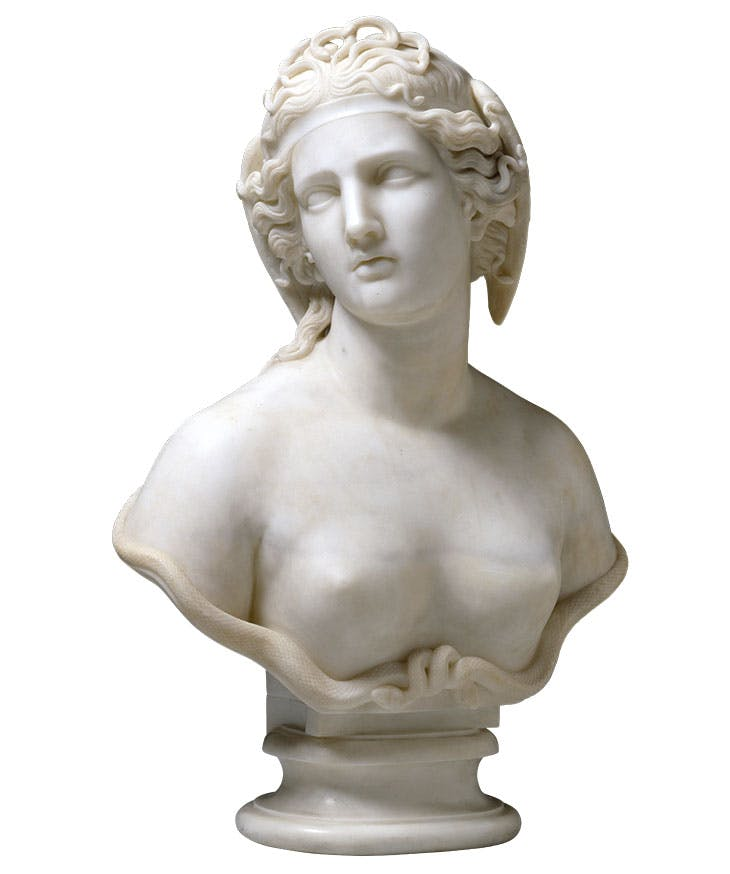 Medusa (c. 1854), Harriet Goodhue Hosmer. Hood Museum of Art, Dartmouth College, New Hampshire
