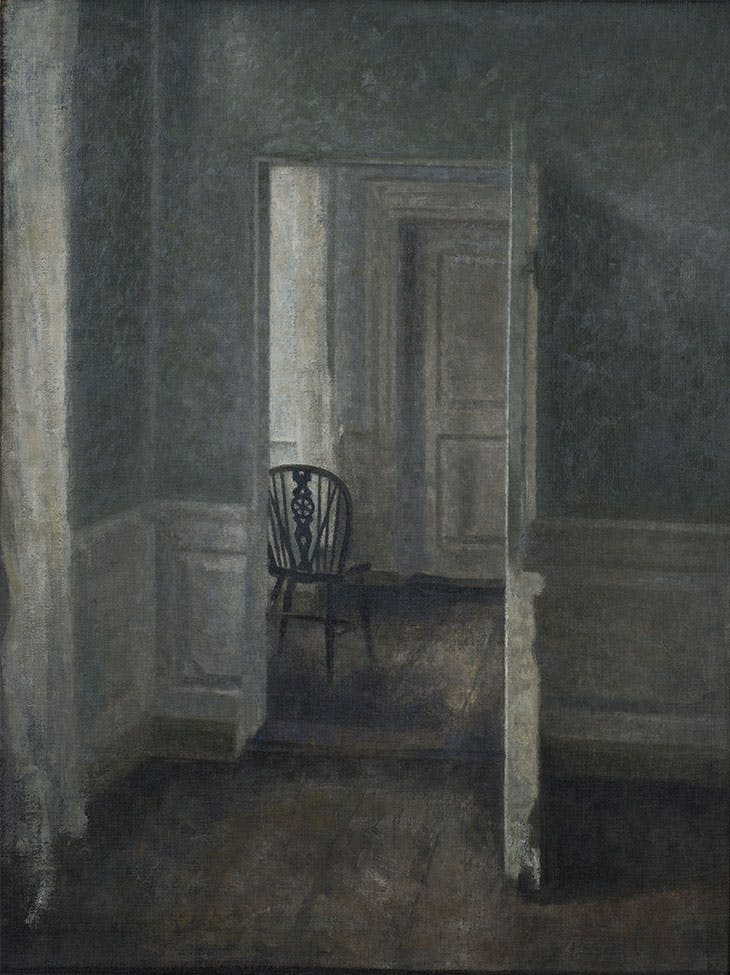 Interior with a Windsor Chair (1913), Vilhelm Hammershøi