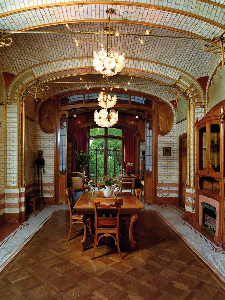 The dining room in what is now the Horta Museum, designed by