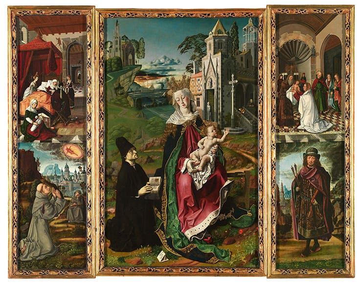 Triptych of the Virgin of Montserrat (c. 1470–75), Bartolomé Bermejo.