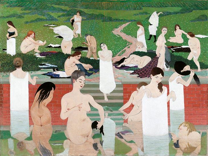 Bathing on a Summer Evening (1892–93), Félix Vallotton. Kunsthaus Zürich.