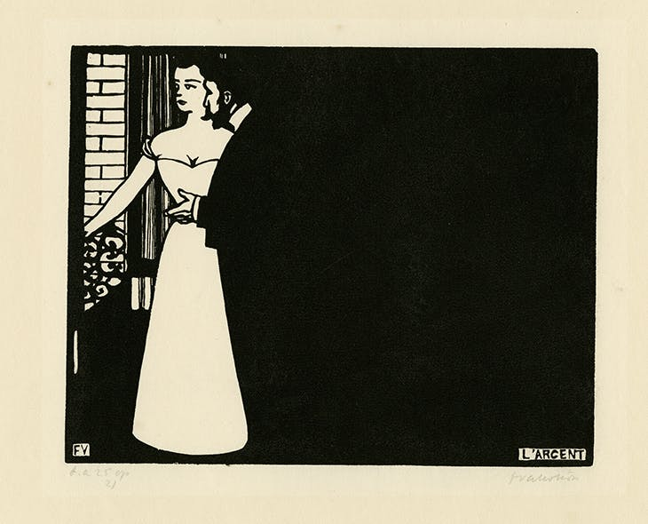Intimacies V: Money (1897/98), Félix Vallotton. Musées d'Art et d'Histoire de Genève.