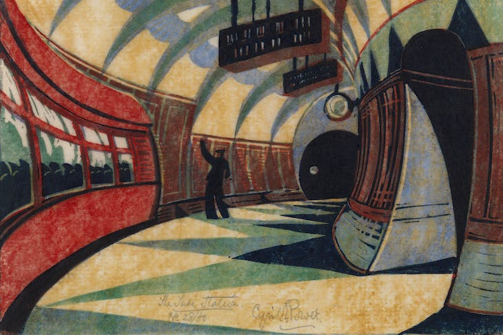 The Tube Station (detail; c. 1932), Cyril Power.