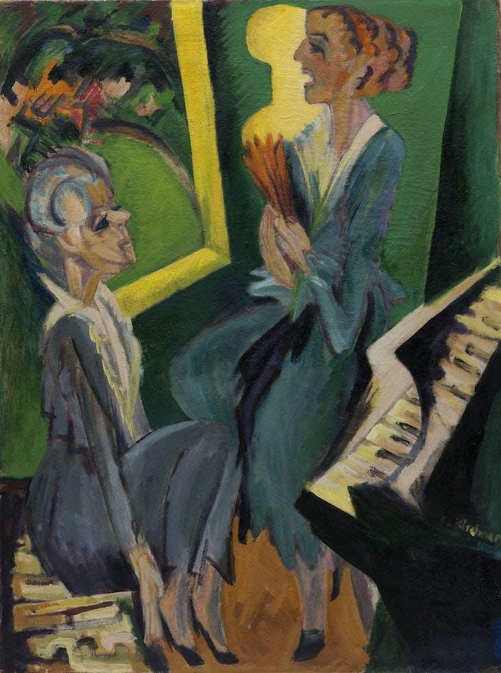 Music Room II (1915/20), Ernst Ludwig Kirchner.