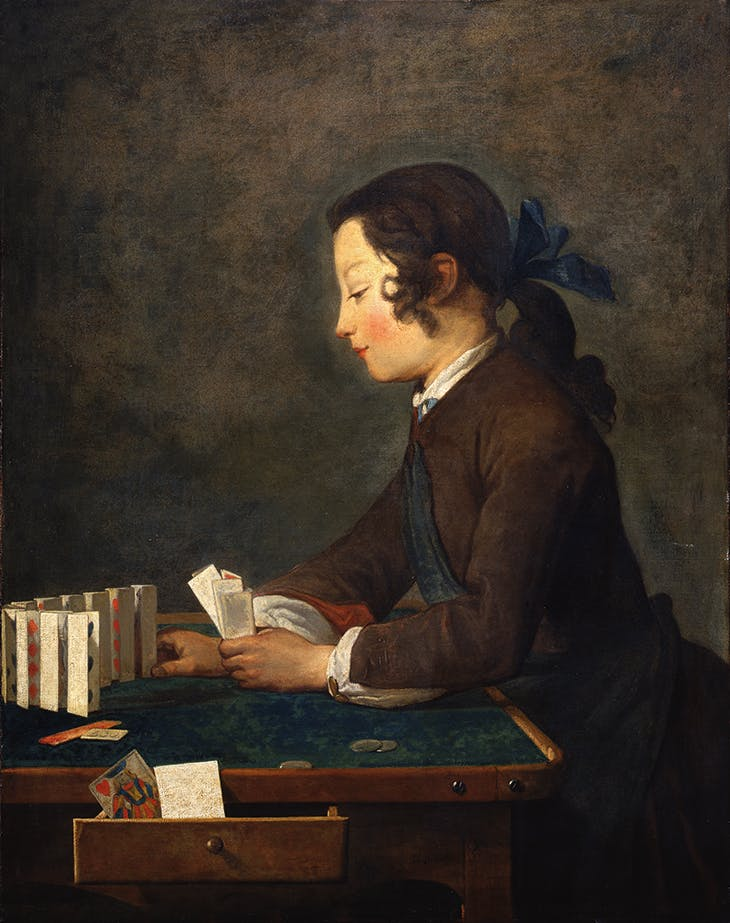 The House of Cards (n.d.), Jean-Baptiste Siméon Chardin.