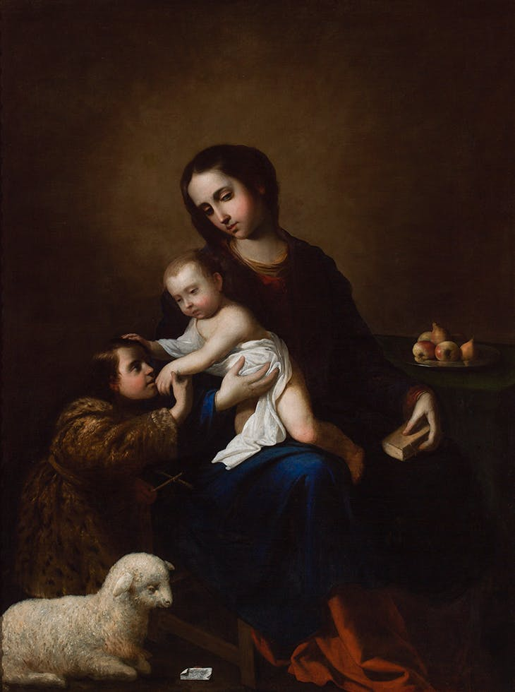 The Virgin and Child with the Infant Saint John the Baptist (1662), Francisco de Zurbarán.