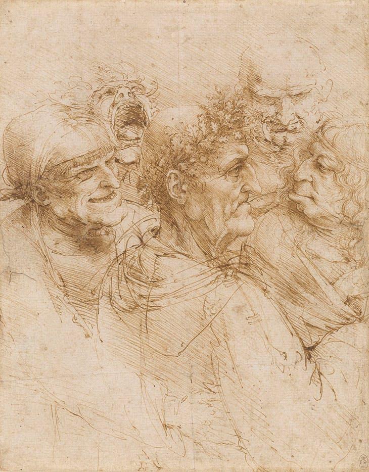 A man tricked by gypsies (c. 1493), Leonardo da Vinci.
