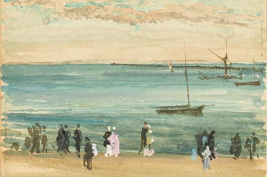 Southend Pier (c. 1882–84), James McNeill Whistler. Freer Gallery of Art
