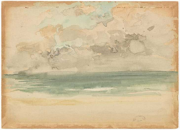 The Ocean Wave (c. 1883–84), James McNeill Whistler. Freer Gallery of Art