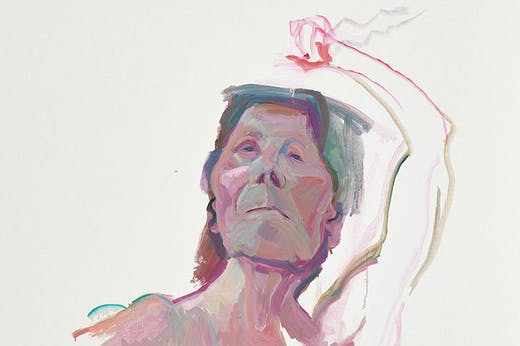 Self-portrait with Brush (detail; 2010–13), Maria Lassnig.