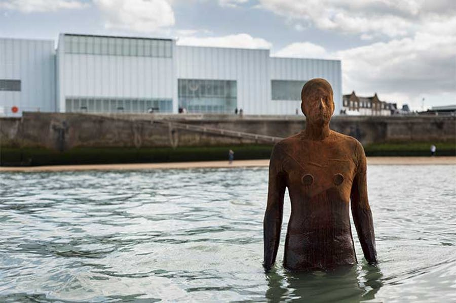 Installation view of ANOTHER TIME by Antony Gormley at Turner Contemporary, Margate, 2017.