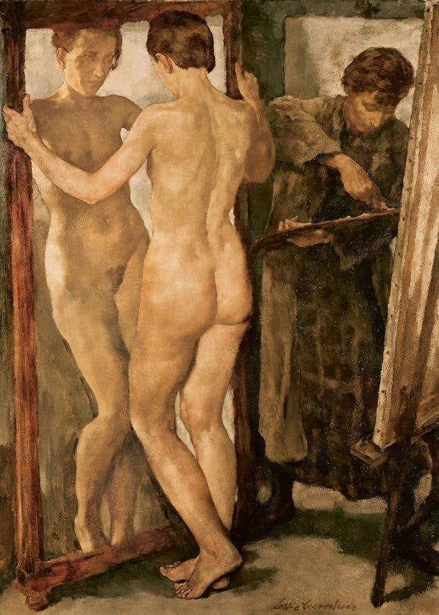 At the Mirror (1930/31), Lotte Laserstein.