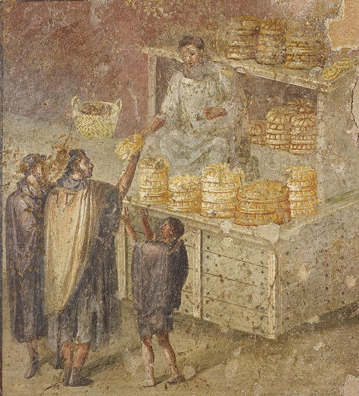 Fresco wall panel showing the distribution of bread (AD 40–79).
