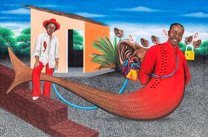 The Secret of a Little Fish Grown Large (2002), Chéri Samba.