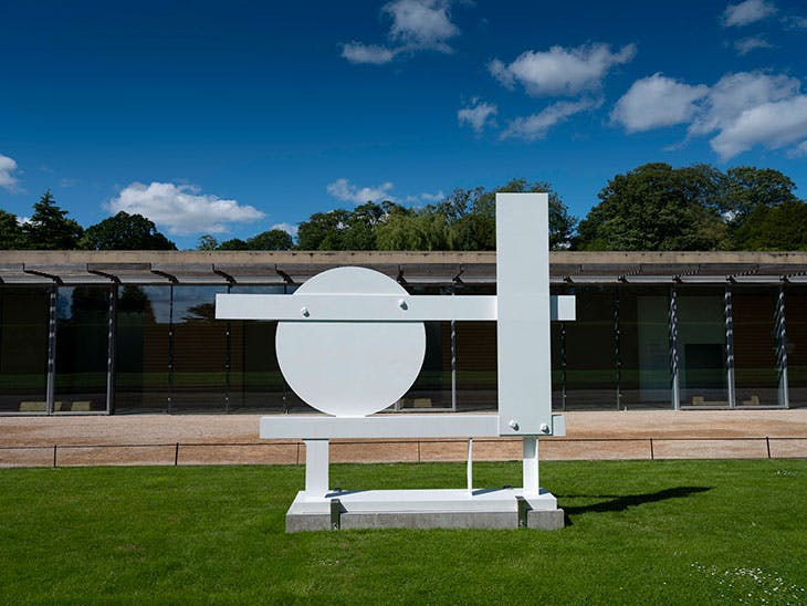Primo Piano III (1962), David Smith. Installation view at Yorkshire Sculpture Park, 2019.