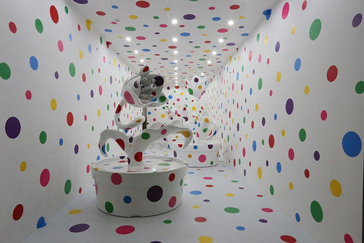 With All My Love for the Tulips, I Pray Forever (2013–2014), Yayoi Kusama.