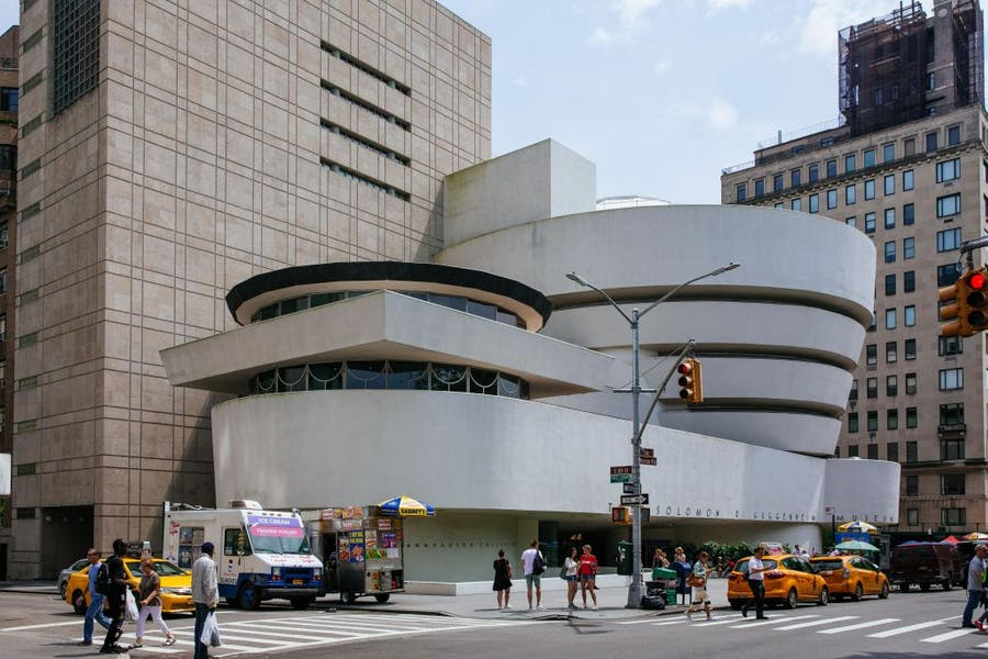 The Guggenheim Museum in New York, photographed in July 2019.