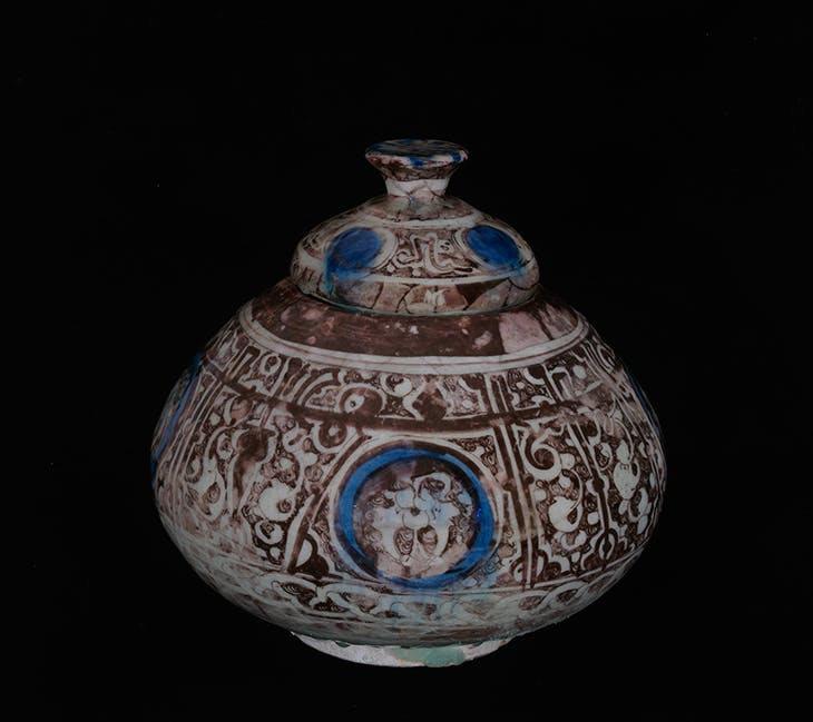 Vase with cover (late 12th century), Raqqa, Syria.