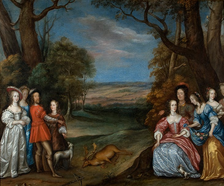 The Stag Hunt (1650s), Joan Carlile. Lamport Hall