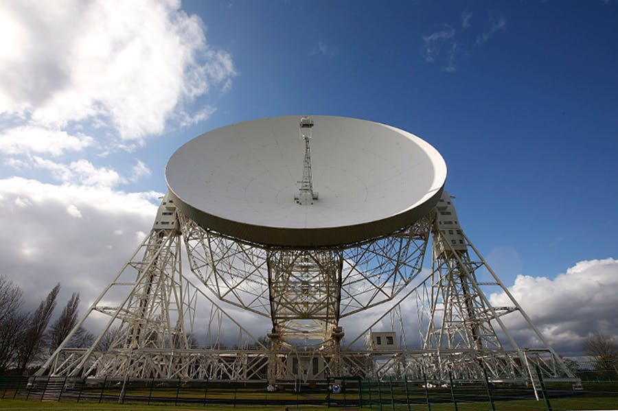 The Lovell Telescope at the Jodrell Bank Observatory, Chesire.