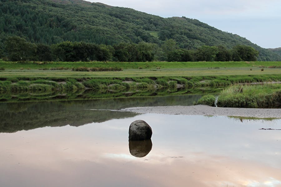 Wooden Boulder in the Dwyryd estuary, 2013