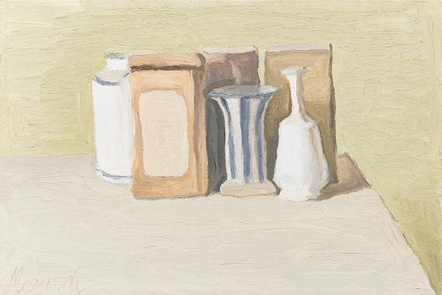Still Life (Natura Morta) (1949), Giorgio Morandi.