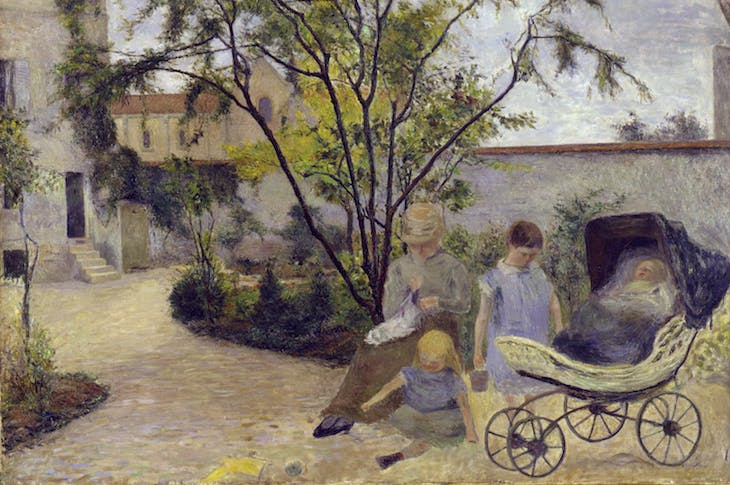 Figures in Garden (c. 1881), Paul Gauguin.