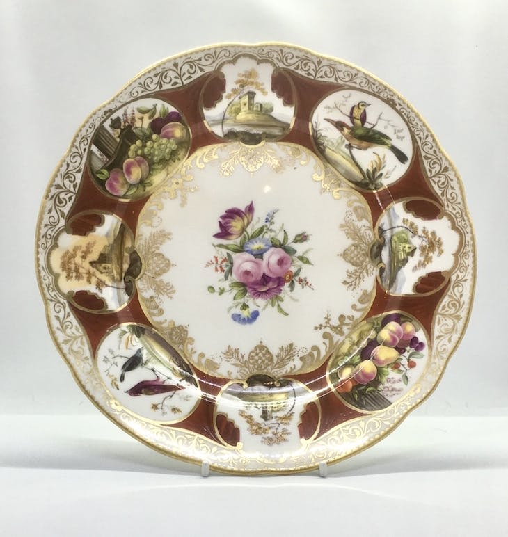 Plate from the Duke of Cambridge service (1818), Nantgarw China Works.