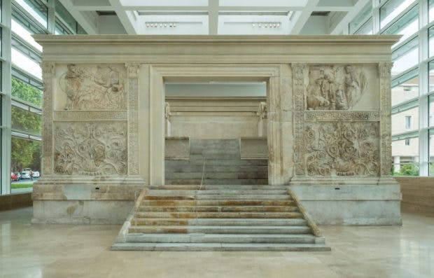 The Ara Pacis Augustae (Augustus's Altar of Peace) in the Ara Pacis Museum in Rome. Photo: © Iain Masterto/Alamy Stock Photo