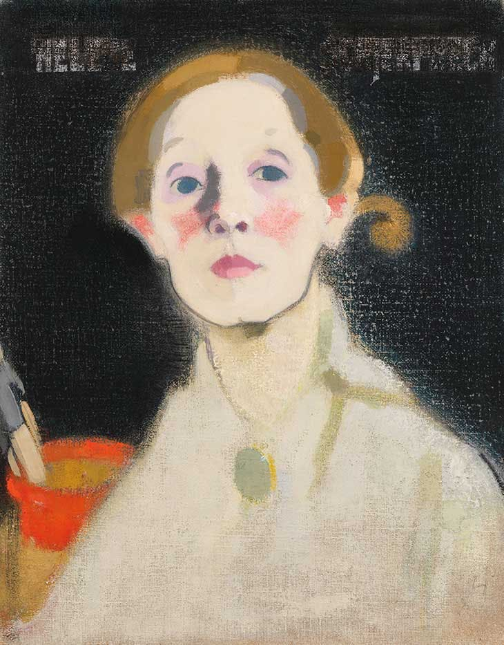 Self-portrait, Black Background (1915), Helene Schjerfbeck. Finnish National Gallery/Ateneum Art Museum.