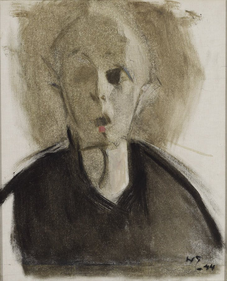 Self-portrait with Red Spot (1944), Helene Schjerfbeck.