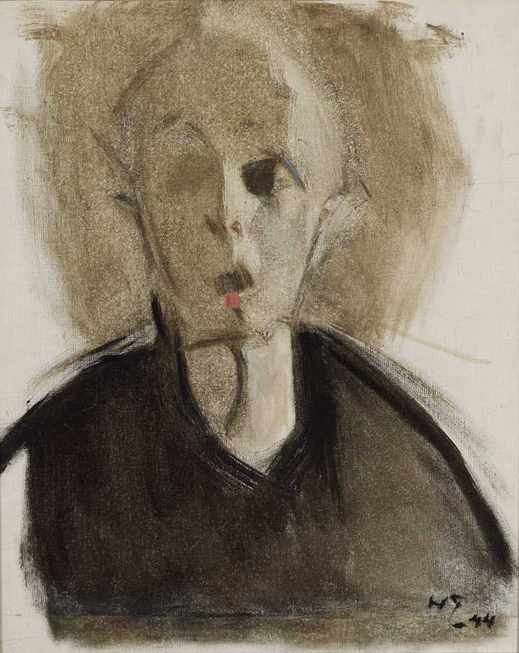 Self-portrait with Red Spot (1944), Helene Schjerfbeck. Finnish National Gallery/Ateneum Art Museum.