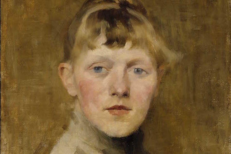 Self-portrait (detail; 1884–85), Helene Schjerfbeck.