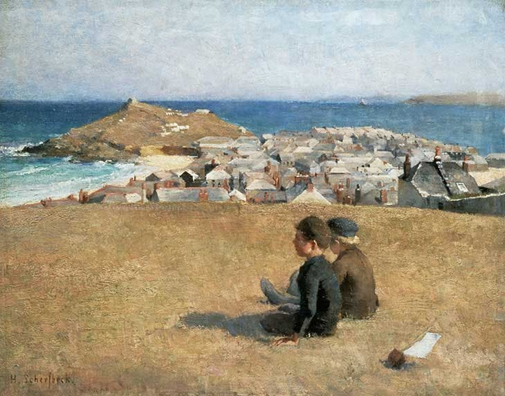View of St Ives (1887), Helene Schjerfbeck.