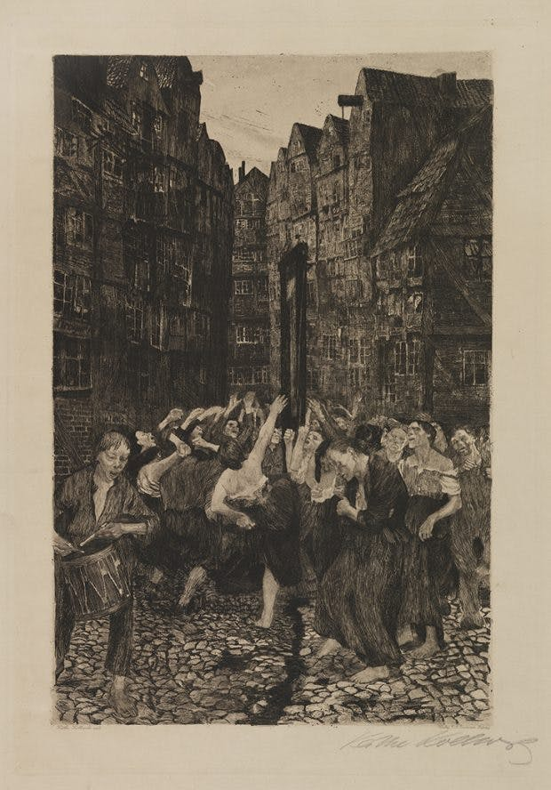 La Carmagnole (1901), Käthe Kollwitz. Hunterian Art Gallery, University of Glasgow