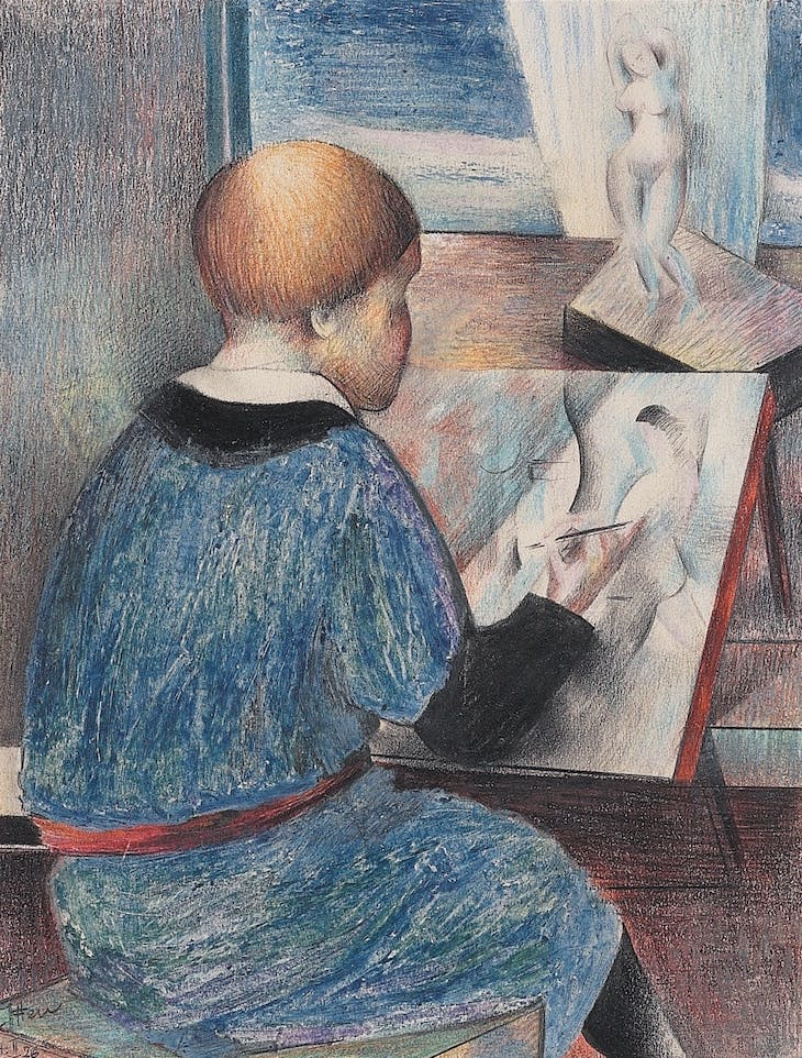 Boy Drawing (1926), Johannes Itten.