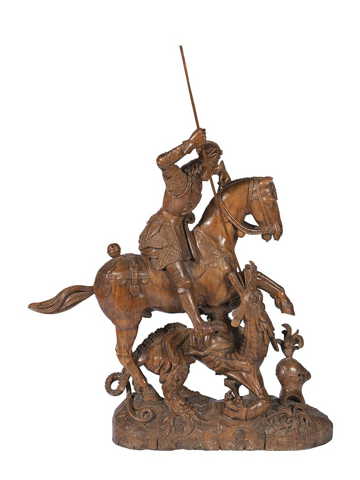 Philip the Fair as Saint George Slaying the Dragon (c. 1500), probably Flemish. Gruuthusemuseum, Bruges.