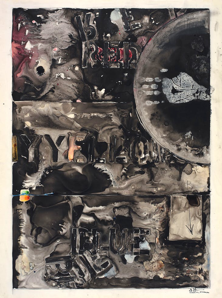 Periscope (1977), Jasper Johns. Menil Drawing Institute, Houston.