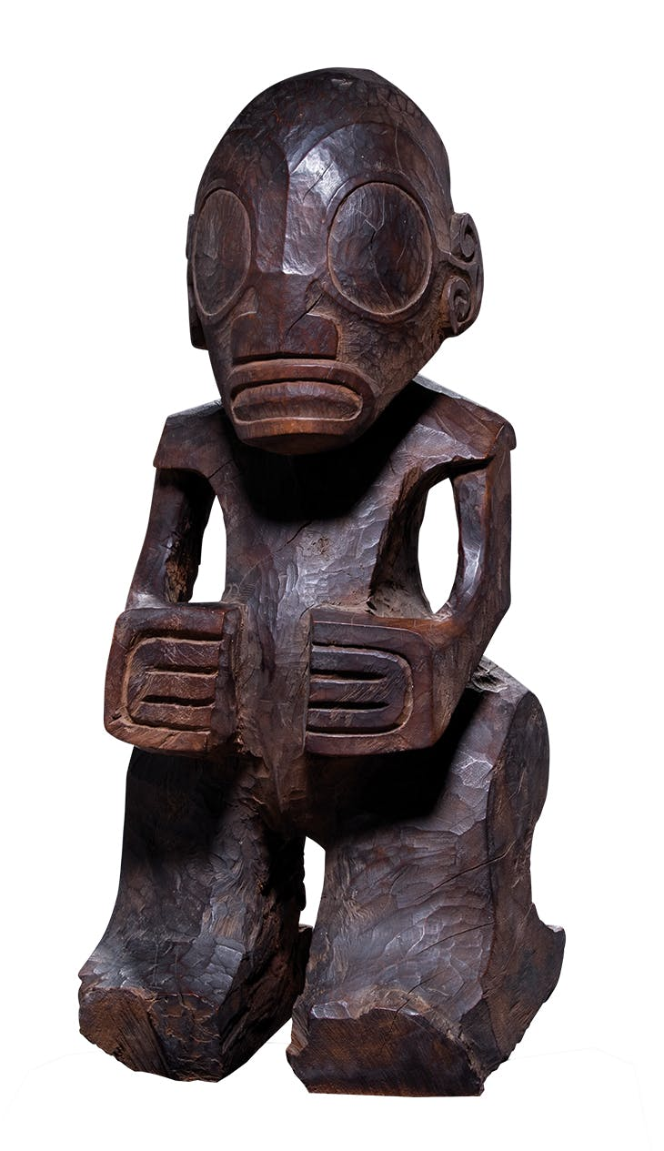 Tiki figure (late 18th century), Marquesas Islands.