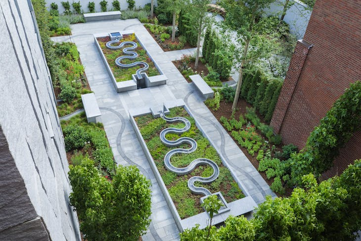 The new garden at the Peabody Essex Museum.