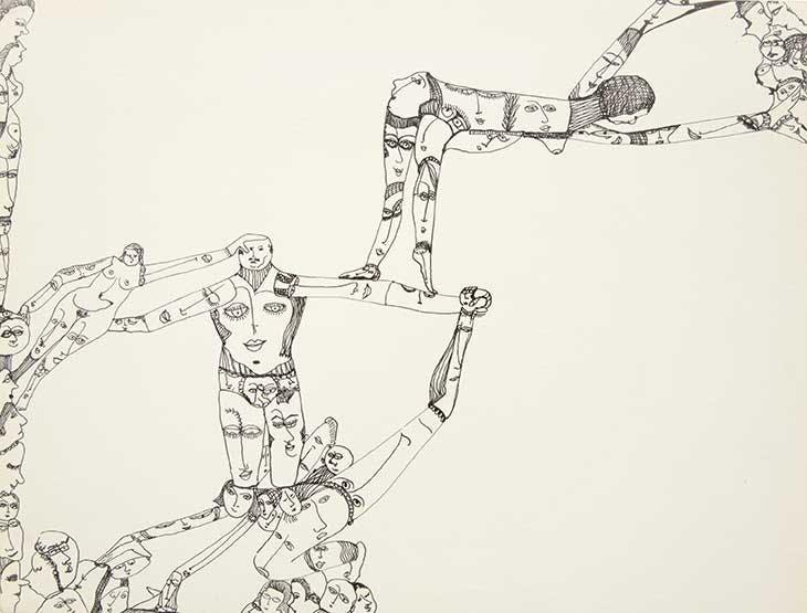 Mustafa acrobate (1971), Huguette Caland.