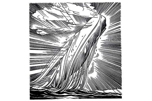 Moby Dick Transcendent (1930), Rockwell Kent, illustration for the Lakeside Press edition of Moby-Dick.