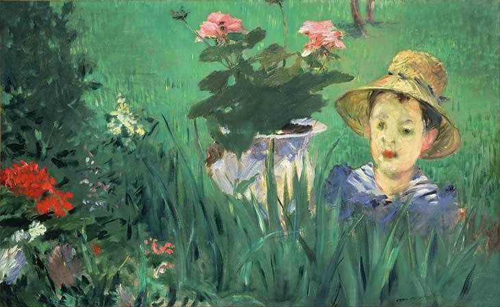 Boy in Flowers (Jacques Hoschedé) (1876/77), Édouard Manet. National Museum of Western Art, Tokyo
