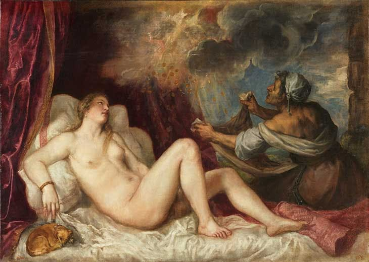 Danaë and the Shower of Gold (1560–65), Titian.
